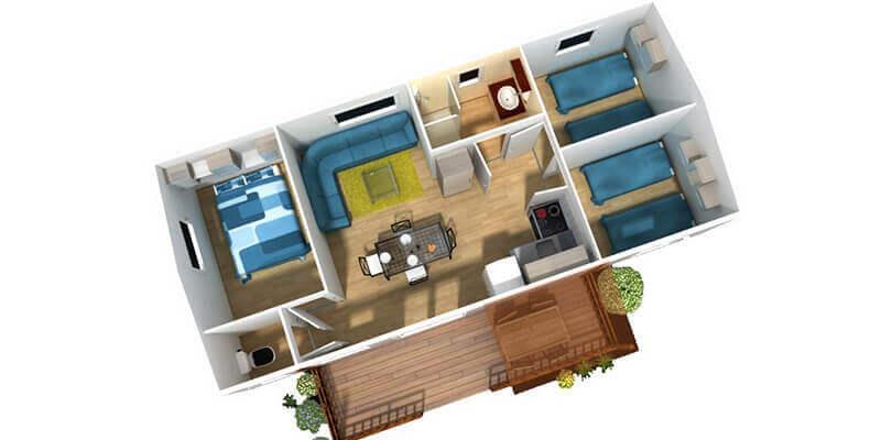 Hébergement confort 3 chambres 6 personnes