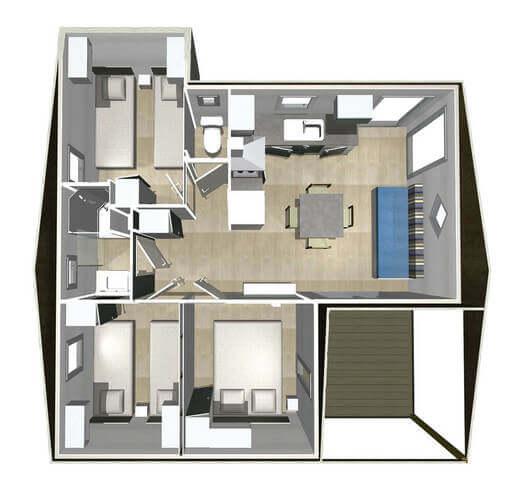 Hébergement prestige 3 chambre 6 personnes