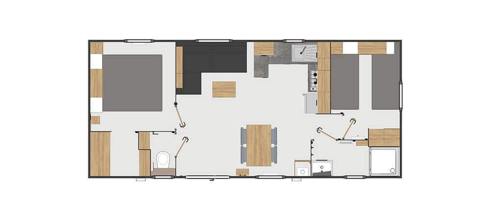 Hébergement standing 2 chambres 4 personnes