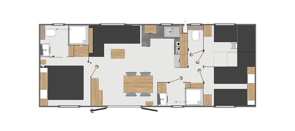 Hébergement standing 3 chambres 6 personnes