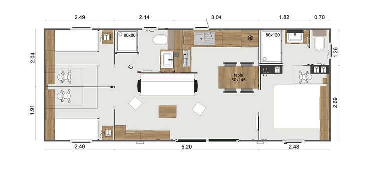 Hébergement privilège prestige 3 chambres 6 personnes Les sables de cordouan