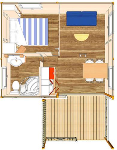 Hébergement atypique 1 chambre 3 personnes