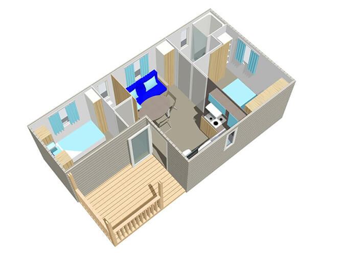 Classique 2 chambres 4 personnes