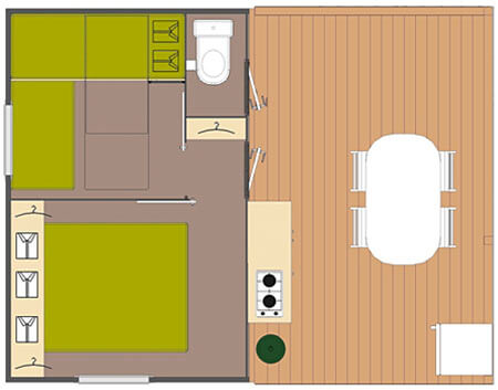 Atypique 2 chambres 5 personnes
