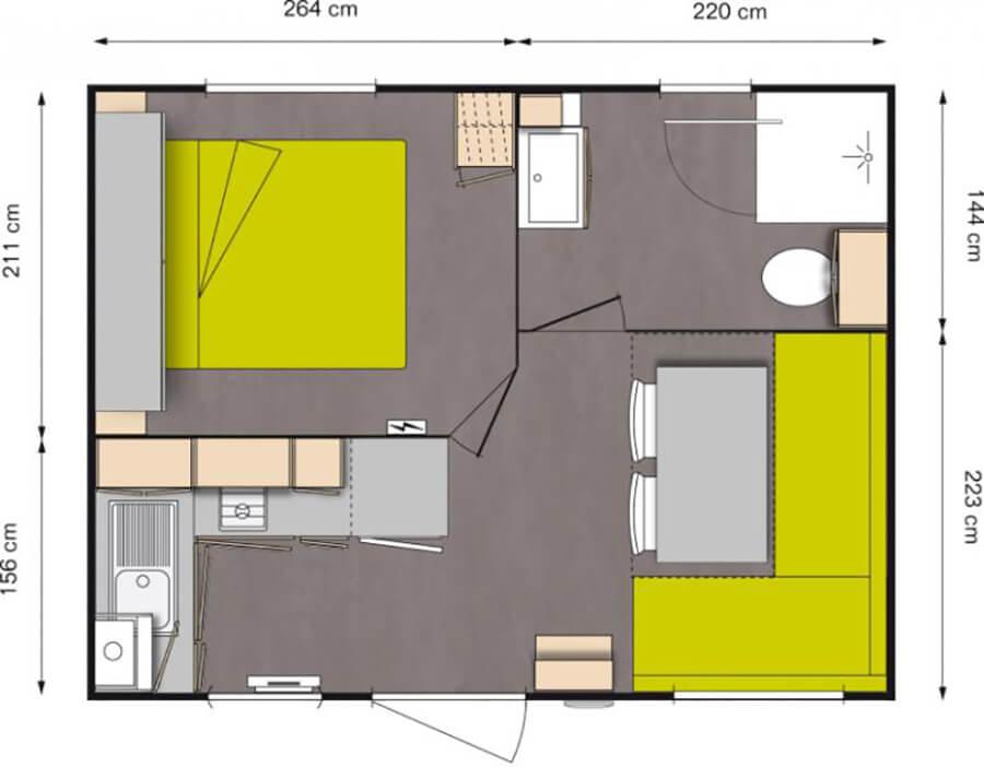 Classique 1 chambres 2 personnes