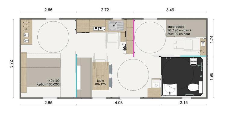 Hébergement confort 2 chambres 4 personnes PMR