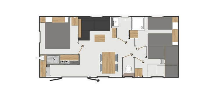 Plan - Hébergement confort 3 chambres 7 personnes