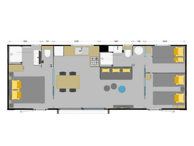 Prestige spa 3 chambres 6 personnes