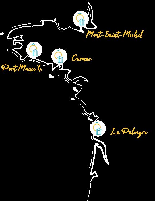 Carte de tous les campings